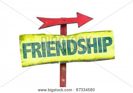 Friendship sign isolated on white