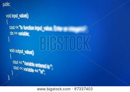 Programming code abstract screen of software developer