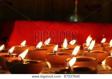 Number Of Oil Lamps Lit, Festival Concept