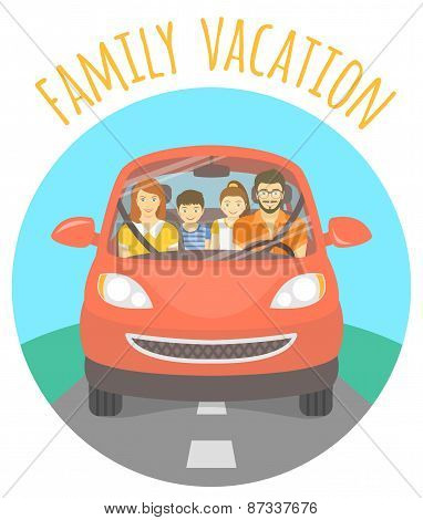Family vacation trip by car