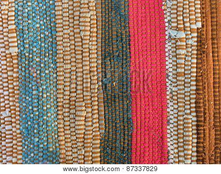 Motley Rug Textile Fabrics Texture Closeup