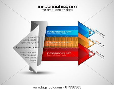 Infographic Layout for info charts, item classification, performance analysis, product ranking and generic business or marketing oriented presentations