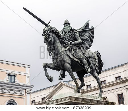 Statue Of El Cid In Burgos, Spain