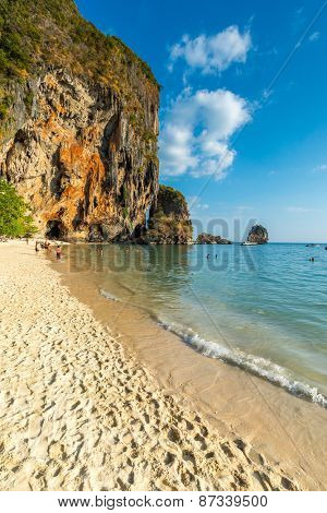 Famous Phranang cave at South Raylay Railay Beach, Krabi : Thailand
