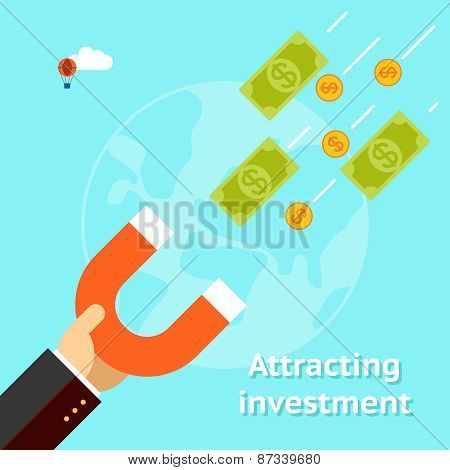 Attracting investments concept