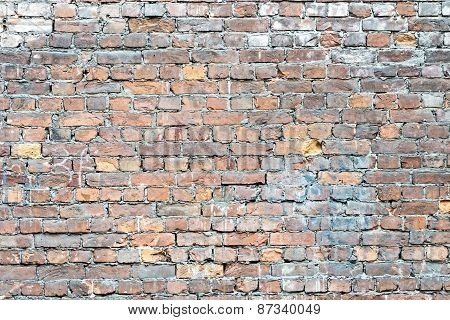 Wall From An Old Clay Brick