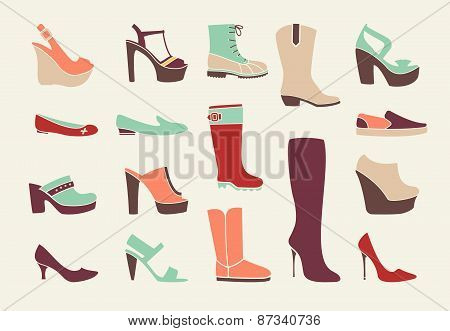 Flat women shoes