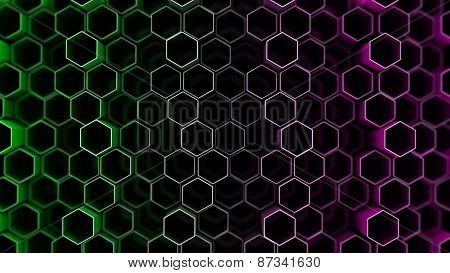 Abstract Tech Background With Hexagons