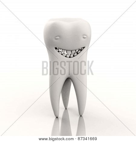 Character In The Form Of A Smiling Tooth