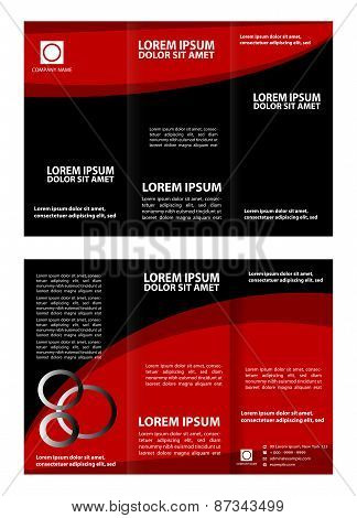 Tri fold business brochure vector template
