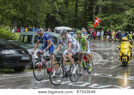 Group Of Three Cyclists