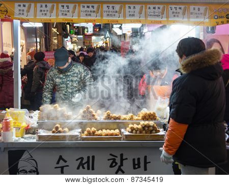 Street Food Around Seoul, South Korea