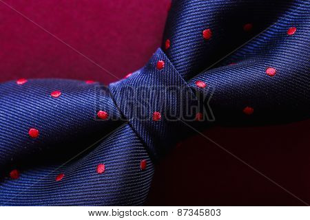 Bow tie on a violet background