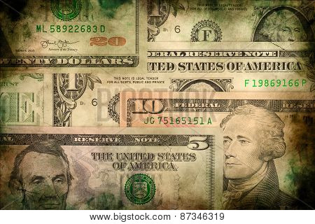 Usa Dollar Money Banknotes Texture Background