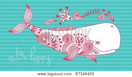 Card Be Happy with Whale