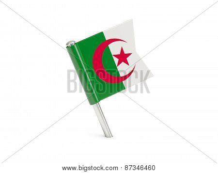 Flag Pin Of Algeria