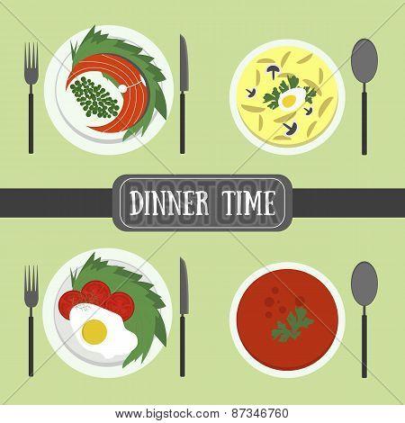Flat food for dinner