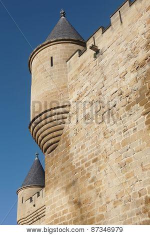 Antique Castle Battlement Detail In Olite, Navarra. Spain