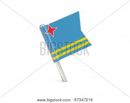 Flag Pin Of Aruba