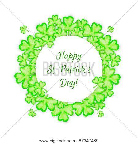 St. Patricks Day holiday frame