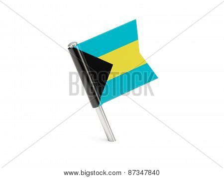 Flag Pin Of Bahamas
