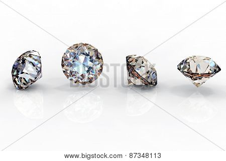 Background with set of many different gemstones. Diamond