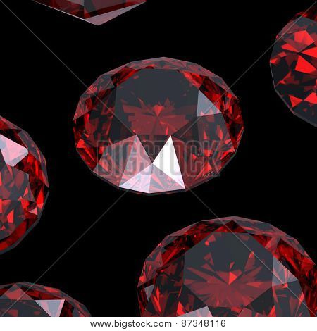 Background with set of many different gemstones. Garnet