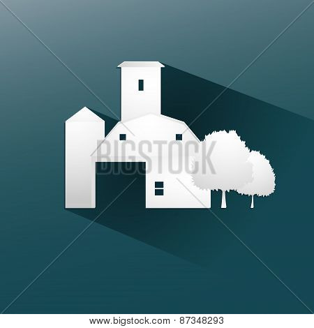 Symbol farm stable  design, vector illustration eps10 graphic