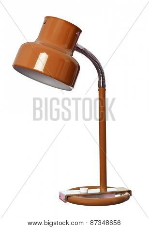 Vintage Orange lamp isolated on a white background