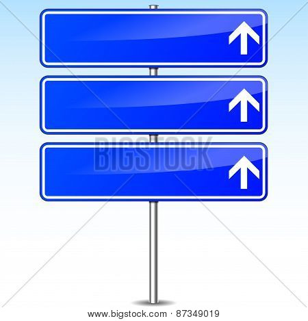 Blue Direction Sign