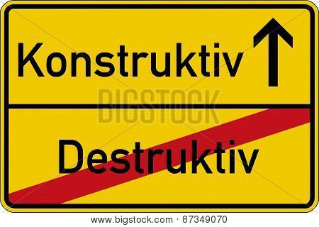 Destructive and constructive
