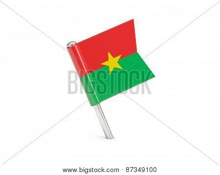 Flag Pin Of Burkina Faso