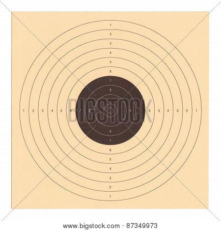 Cardboard shooting target
