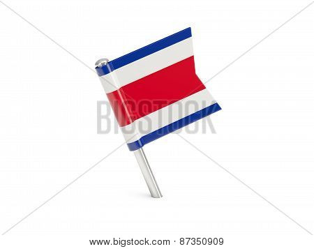 Flag Pin Of Costa Rica