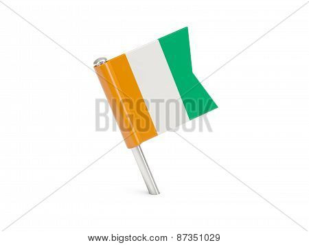 Flag Pin Of Cote D Ivoire