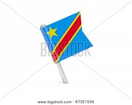 Flag Pin Of Democratic Republic Of The Congo