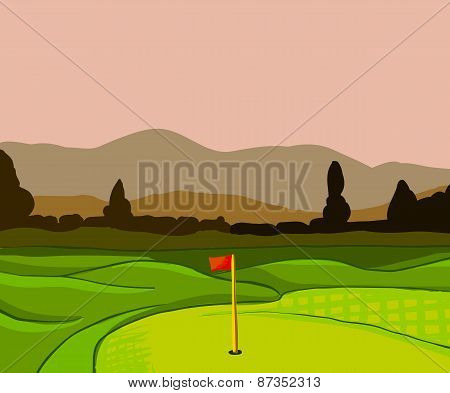 Golf Course Vector Background
