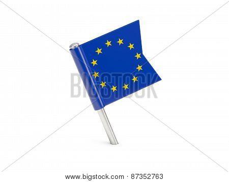 Flag Pin Of European Union