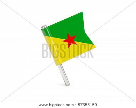 Flag Pin Of French Guiana