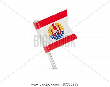 Flag Pin Of French Polynesia