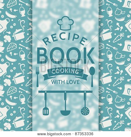 Recipe Book. Vector Card.