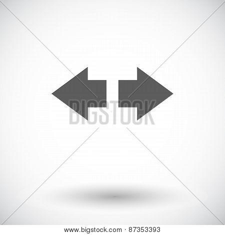 Arrow flat icon.