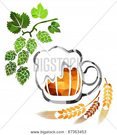 Beer And Wheat Ear