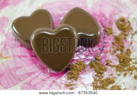 Heart Shaped Chocolate Candies