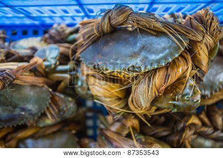 Crabs Bind In Market