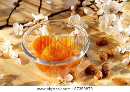 Dried apricots and almonds