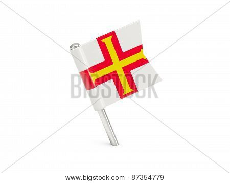 Flag Pin Of Guernsey
