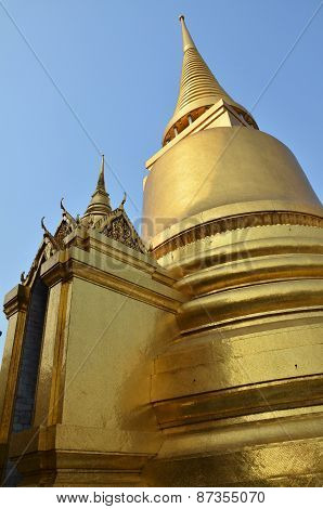 Golden Pagoda In Grand Palace