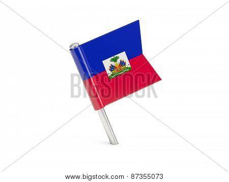 Flag Pin Of Haiti