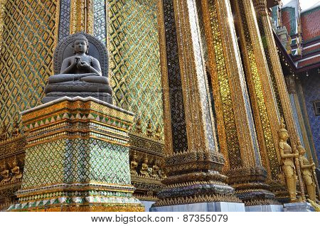A Golden Pagoda, Grand Palace, Bangkok, Thailand